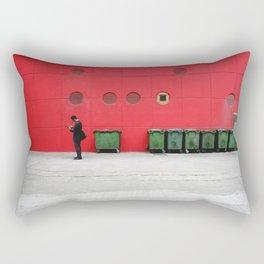 Red Hong Kong Rectangular Pillow