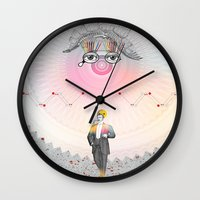 "architect Wall Clocks featuring ""The Big Architect"" by Alessandro De Vita"