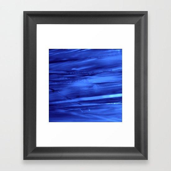 blue lines abstract I Framed Art Print