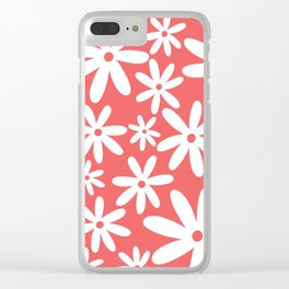 Tiare Flower Pink Clear iPhone Case