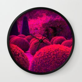 French Red Topiary hedges   Wall Clock