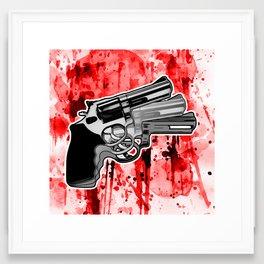 Triple Revolver (right) Framed Art Print