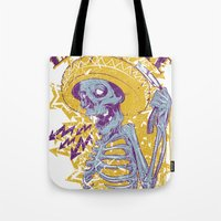 mexican Tote Bags featuring Mexican death by Tshirt-Factory