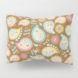 Hedgehog Paisley_Colors and Cocoa Pillow Sham