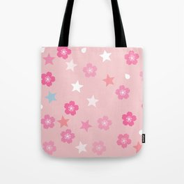 Stars 'n Sakura Blossoms Tote Bag