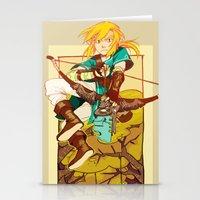 the legend of zelda Stationery Cards featuring Legend of Zelda by bozrat