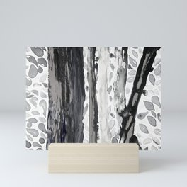 Rainbow Eucalyptus Graffiti artist tree from shedding bark South Pacific Black and White Night Mini Art Print
