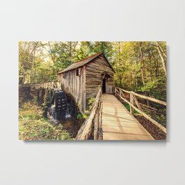 Cades Cove Grist Mill Metal Print