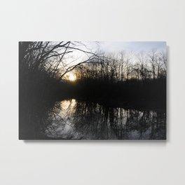 Reflections on Sunset Metal Print