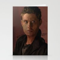 dean winchester Stationery Cards featuring Dean Winchester by Alex Moriarty