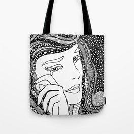 Roy Lichtenstein - Crying girl Tote Bag