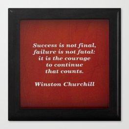 Winston Churchill Success Quote - Corbin Henry - Famous Quotes Canvas Print