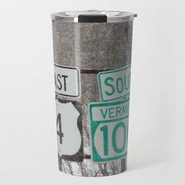 Vermont Street Signs Travel Mug