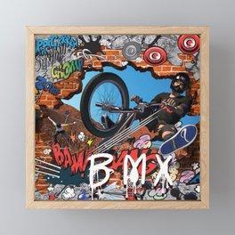 BMX CHILD Framed Mini Art Print