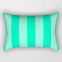 Mint Vertical Bar Stripes Rectangular Pillow