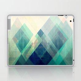 Mountains print, Abstract print, geometric wall art, abstract mountain, minimalist art, modern art, Laptop & iPad Skin