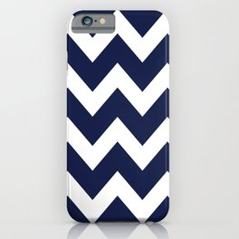 Navy Blue Chevron Minimal iPhone Case