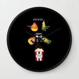 Feuer und Mais zu Popcorn, fusion Wall Clock