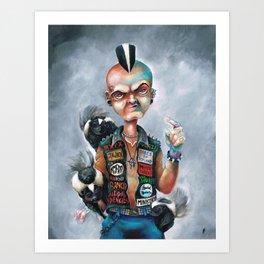 Skunk Punk Art Print