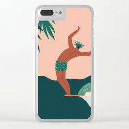 Go with a flow Clear iPhone Case