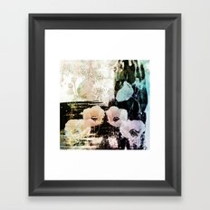poppies on abstract background Framed Art Print