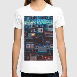 New World sound system T-shirt