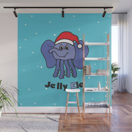 Jelly Elephant Santa Wall Mural