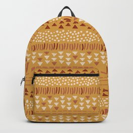 Pattern in Gold Backpack