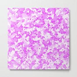 Glamorous camouflage pink pattern Metal Print