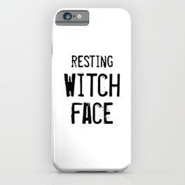 Resting Witch Face iPhone Case