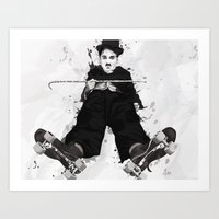 chaplin Art Prints featuring CHAPLIN by Analy Diego