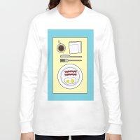 breakfast Long Sleeve T-shirts featuring Breakfast by Hope Palattella