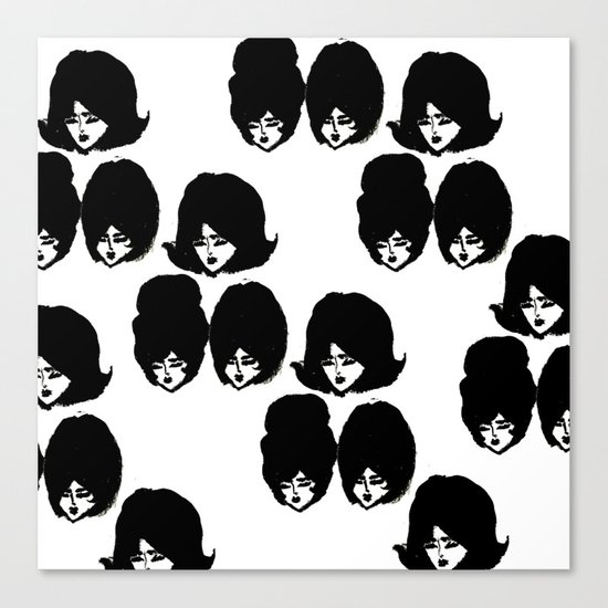 Bouffant Girls II Canvas Print