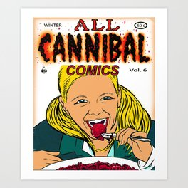 Cannibal Comics vintage comic book cover Art Print