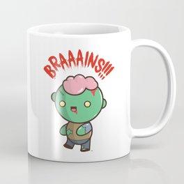 Zombie Kawaii | BRAAAINS!!!! BRAINS!! Halloween Coffee Mug