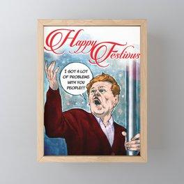 Festivus Holiday Card Framed Mini Art Print