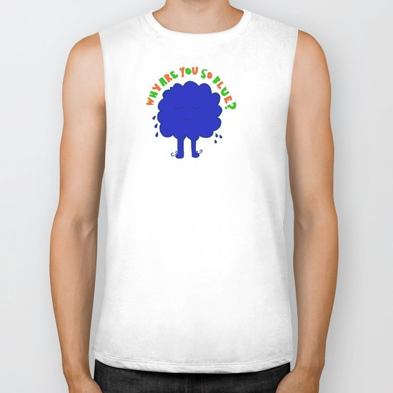 Why are you so blue? Biker Tank
