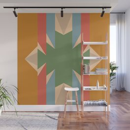 Orange Star - Style Me Stripes Wall Mural