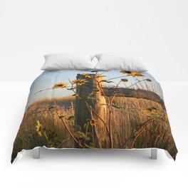 Waking Up Sunflowers Comforters