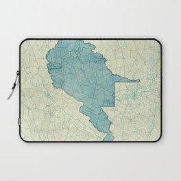 West Virginia State Map Blue Vintage Laptop Sleeve