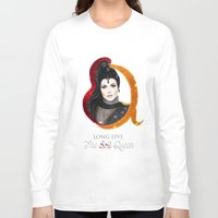 evil queen Long Sleeve T-shirts featuring Regina, The Evil Queen by Clara J Aira