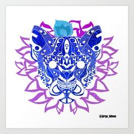Tribal Cougar Ecopop Art Print