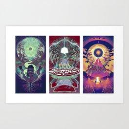 Neuromancer Triptych Art Print