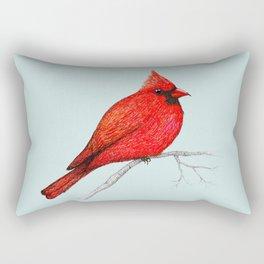 Northern cardinal pen drawing Rectangular Pillow