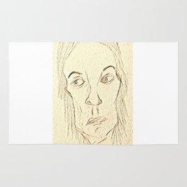 Expressive Face Rug