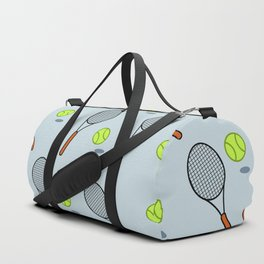 Tennis pattern Duffle Bag
