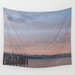 Starnbergersee at dawn Wall Tapestry