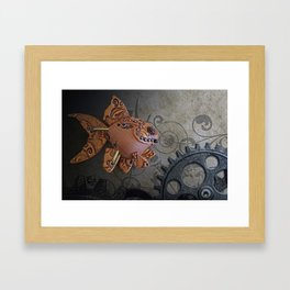 Steampunk Goldfish Framed Art Print