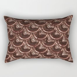 Precious Shimmering Copper Scales Rectangular Pillow