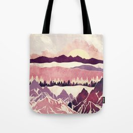 Burgundy Hills Tote Bag
